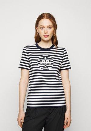 STRIPED LOGO  - Print T-shirt - navy