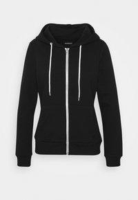 Even&Odd Petite - Zip-up hoodie - black - 4