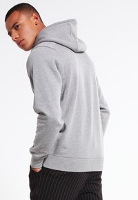 Jack & Jones - JCOPINN HOOD REGULAR FIT - Sweat à capuche - light grey melange - 2