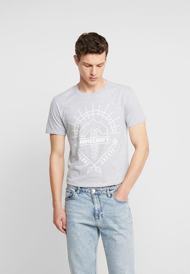 MINECRAFT ART TEE - Print T-shirt - Grey