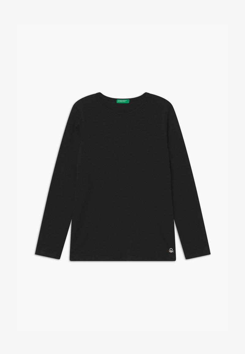 Benetton - Top sdlouhým rukávem - black