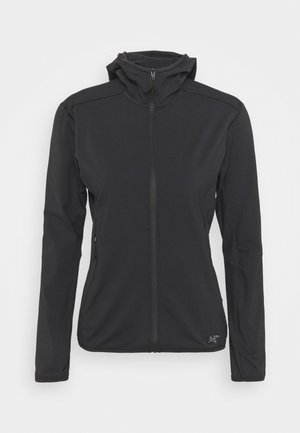 KYANITE HOODY WOMENS - Fleece jacket - black