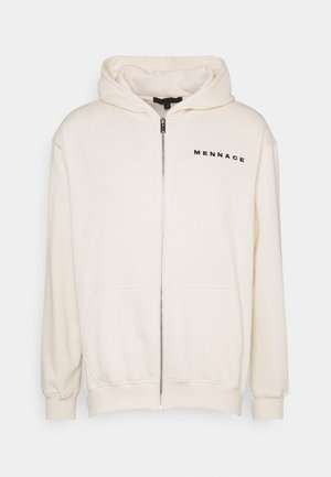 UNISEX ESSENTIAL ZIP UP HOODIE - Zip-up hoodie - cream