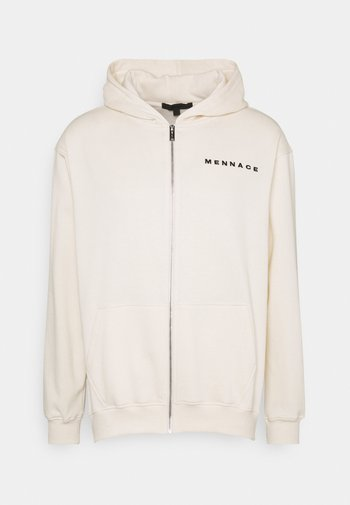 UNISEX ESSENTIAL ZIP UP HOODIE - Sweater met rits - cream