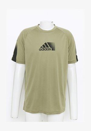 T-shirt med print - orbit green/black