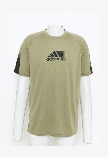 Print T-shirt - orbit green/black