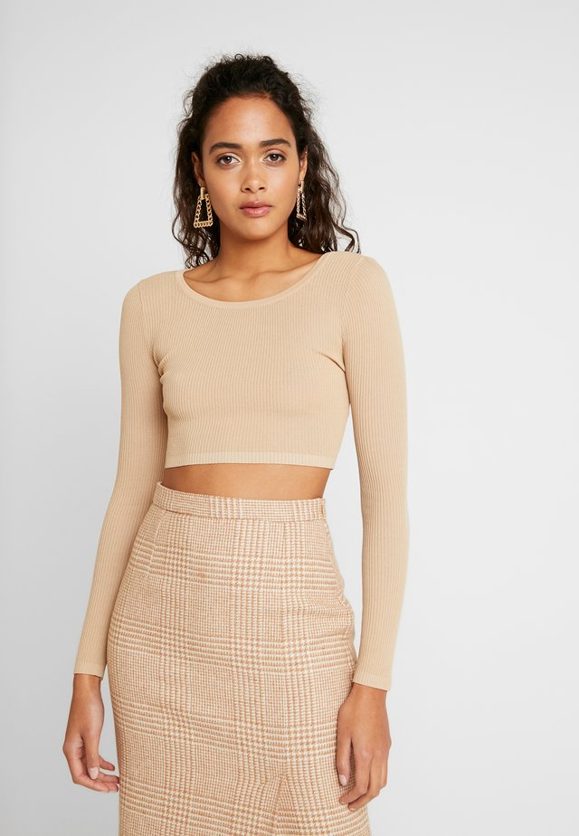 ORLA TOP - Jumper - camel