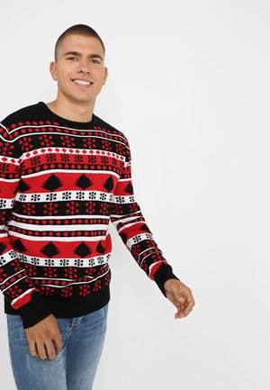 SNOWFLAKE CHRISTMAS TREE - Pullover - black/firered/white