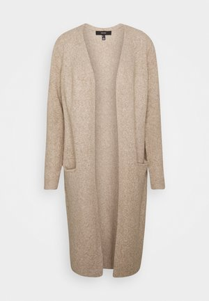 VMDOFFY LONG OPEN CARDIGAN - Kofta - sepia tint melange