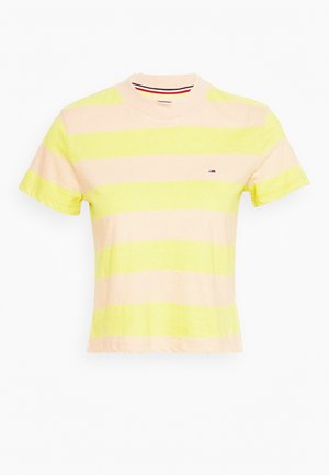BABY STRIPE TEE - T-shirt con stampa - sweet peach/frozen lemon