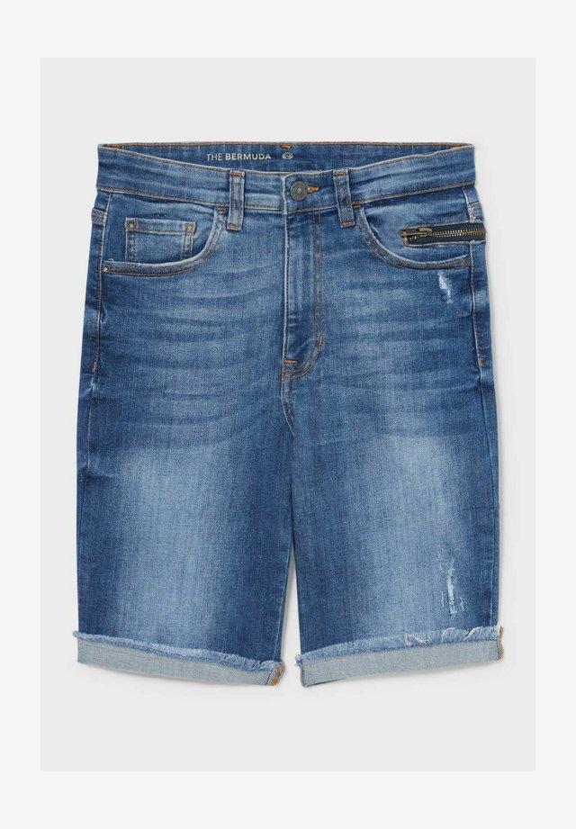 Jeansshort - jeans-blau