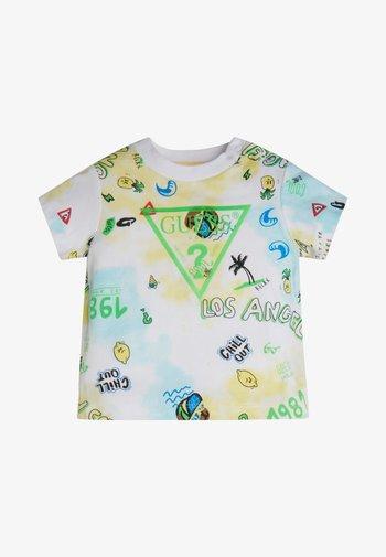 Print T-shirt - beach club yellow