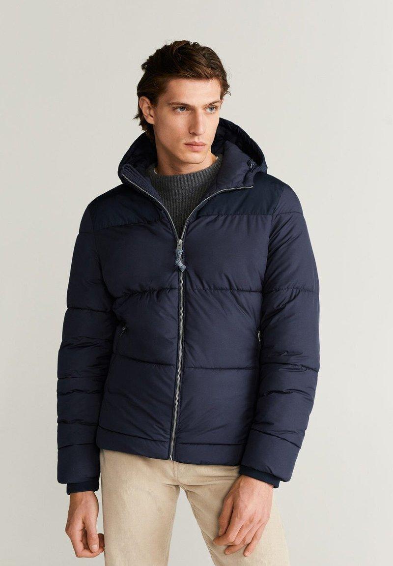 Mango - THERMO-ANORAK - Winter jacket - dunkles marineblau