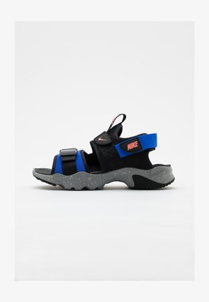 CANYON  - Walking sandals - black/atomic pink/hyper royal/particle grey/grey fog