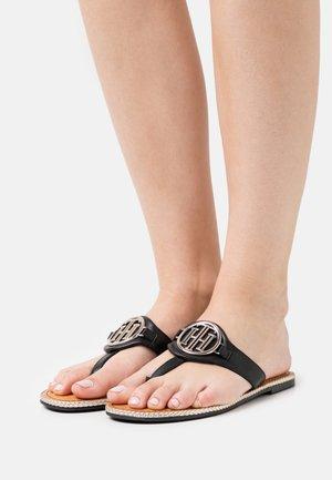ESSENTIAL FLAT - T-bar sandals - black
