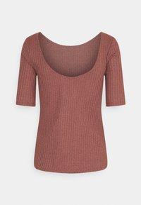 edc by Esprit - POINTELLE - Print T-shirt - coral - 1
