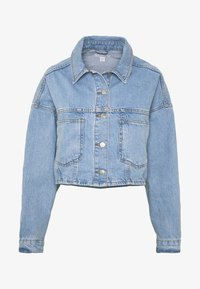 Topshop - CROP JACKET - Denim jacket - blue denim - 4