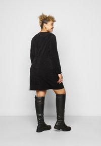 Noisy May Curve - NMMICK SHORT DRESS CURVE - Day dress - black - 2