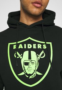 Fanatics - NFL LAS VEGAS RAIDERS NEON POP CORE GRAPHIC HOODIE - Sweatshirt - black - 3