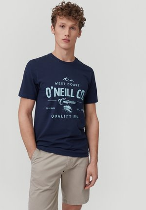 W-COAST - Print T-shirt - ink blue