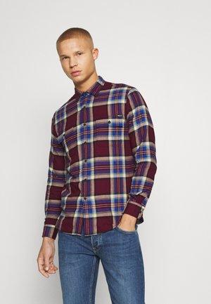 Overhemd - burgundy/blue