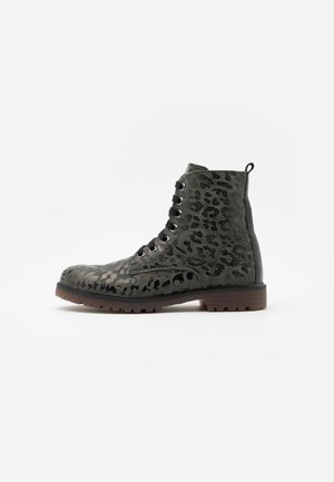 Lace-up ankle boots - montes grafito/agra