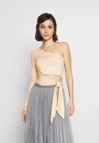 Nly by Nelly - TIE SIDE - T-shirt à manches longues - creme - 0