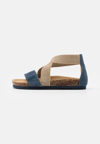 Sandals - azzurro/beige