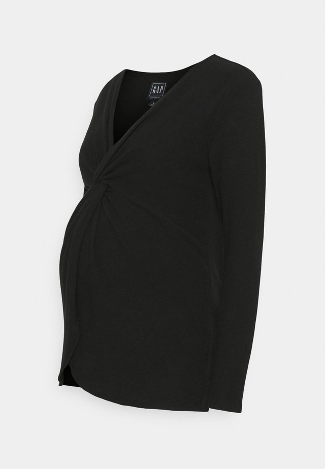 TWIST LAYERING - Strikpullover /Striktrøjer - true black