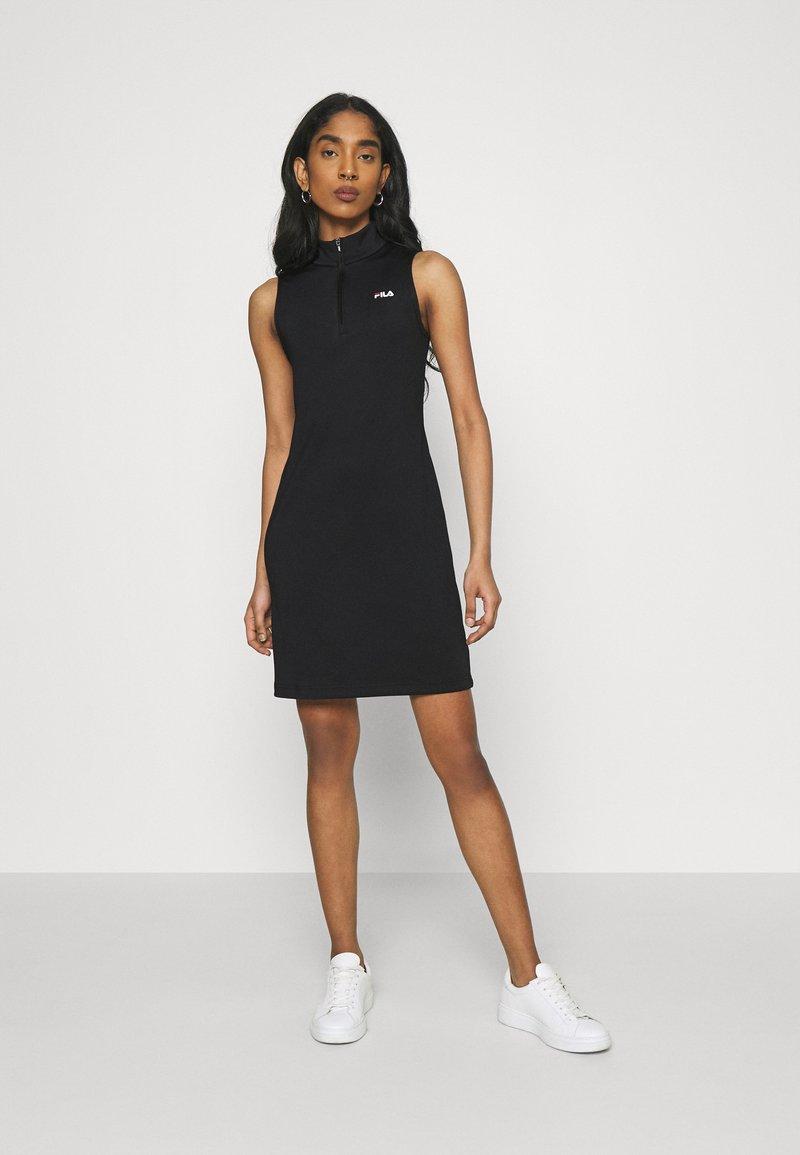 Fila - CEARA TIGHT DRESS - Pouzdrové šaty - black