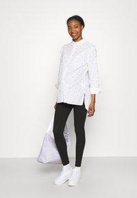 Missguided Maternity - BASIC 2 PPACK - Leggings - Trousers - black/grey marl - 0