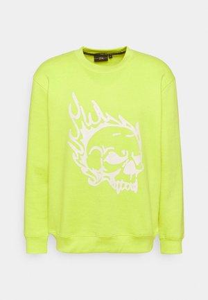 SKULL CREW - Sweatshirt - lime