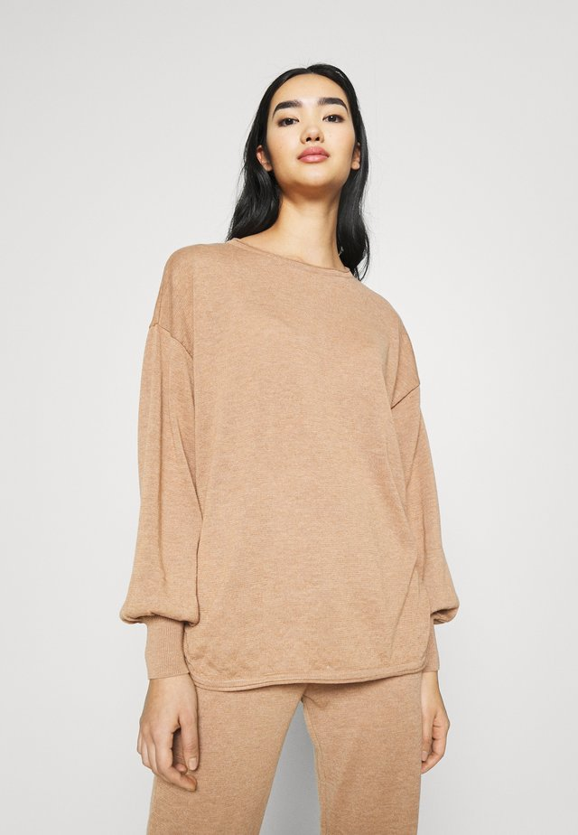 YASRONJA - Jersey de punto - tawny brown