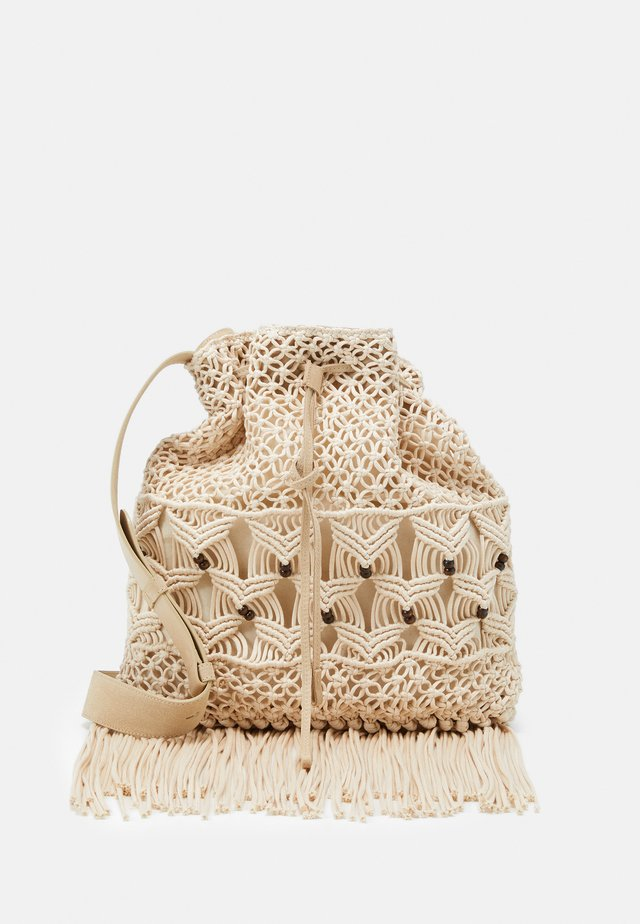 CROCHET SHOULDER BAG - Shopping bags - beige