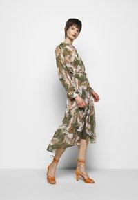 HUGO - ELEKTRA - Shirt dress - olive - 1