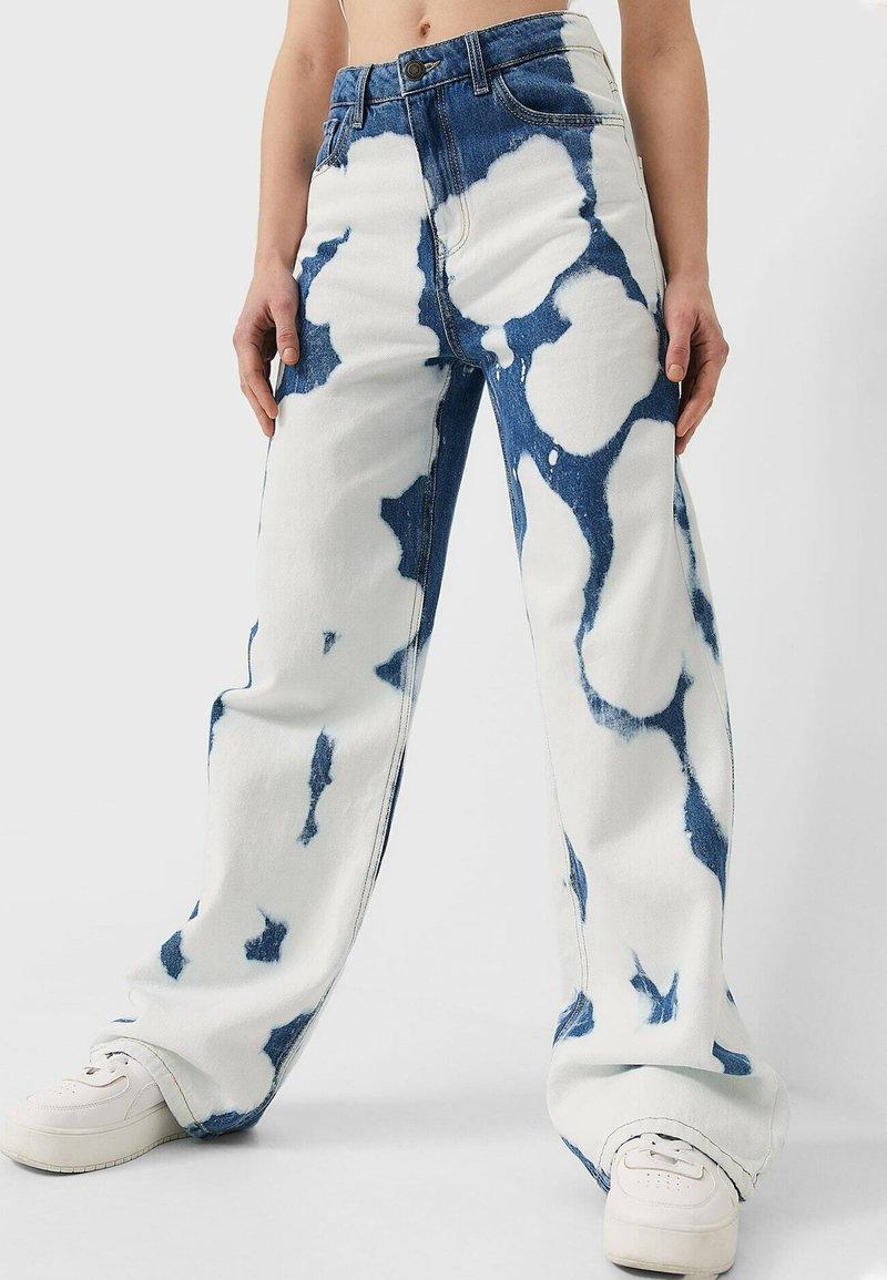Stradivarius - Straight leg jeans - light blue