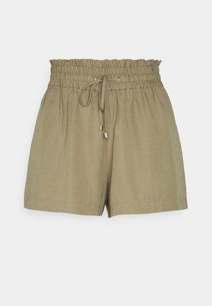 ELASTIC WAIST DRAWSTRING - Shorts - khaki