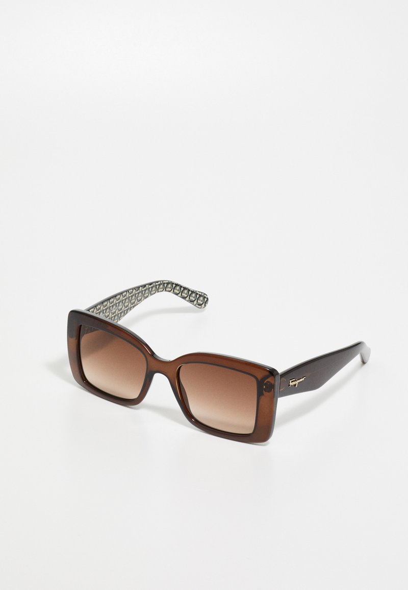 Salvatore Ferragamo - Sluneční brýle - crystal brown