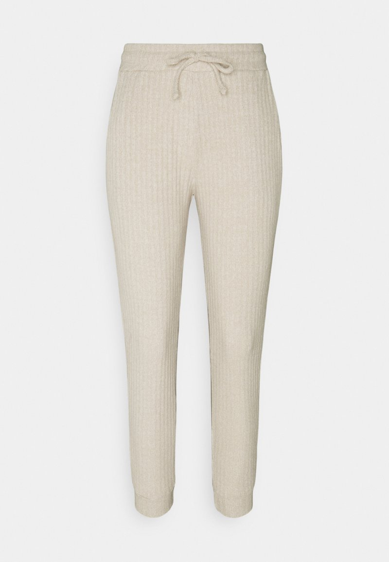 Topshop Petite - NEW COSY BRUSHED JOGGER SET - Top - stone