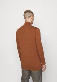Topman - ROLL NECK 2 PACK - Longsleeve - grey/brown - 2