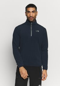 The North Face - GLACIER 1/4 ZIP - Fleecová mikina - urban navy - 0