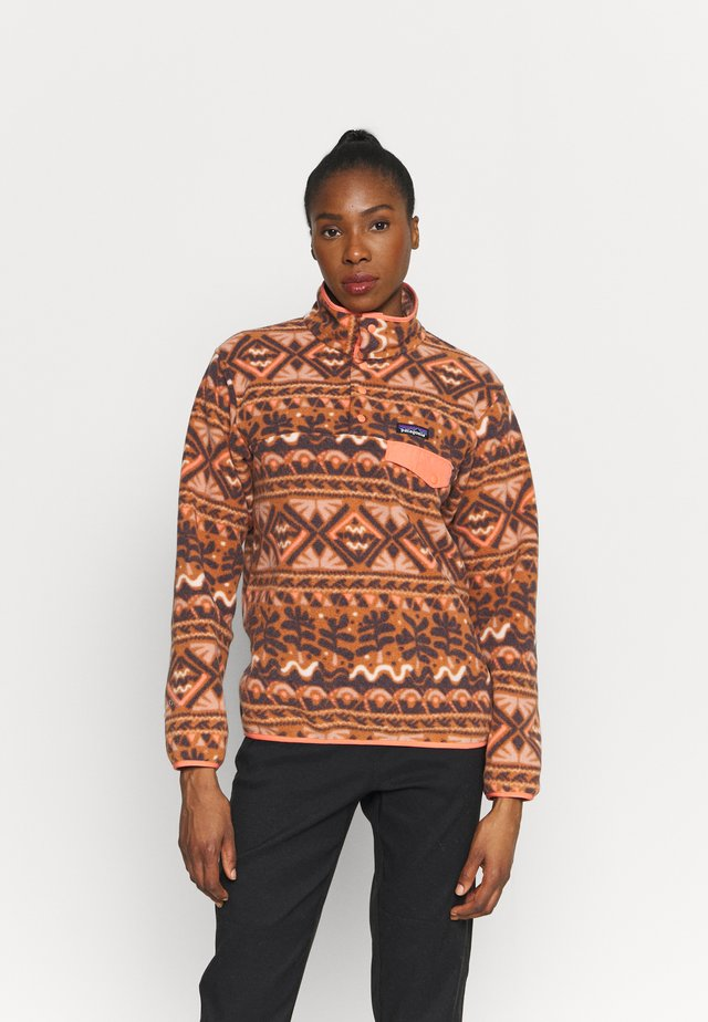 SYNCH SNAP - Sweat polaire - mangrove/henna brown