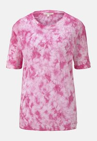 TOM TAILOR DENIM - T-SHIRT BATIK T-SHIRT - Print T-shirt - washed pink - 6
