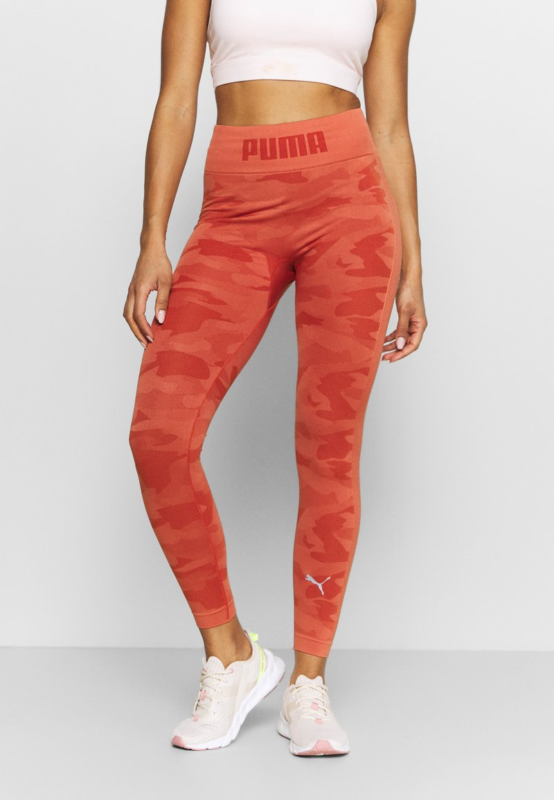 Puma - EVOKNIT SEAMLESS LEGGINGS - Tights - autumn glaze