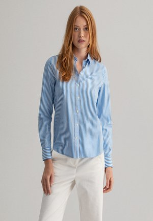 Button-down blouse - pacific blue