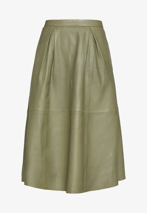 ANNE SKIRT - Áčková sukně - burnt olive