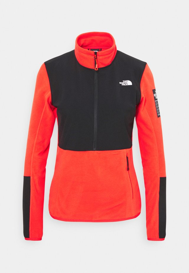 DIABLO MIDLAYER ZIP - Fleece jumper - flare/black