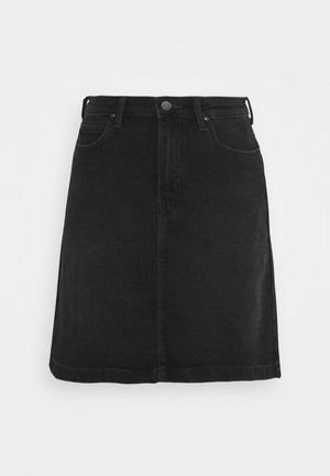 LINE ZIP SKIRT - Áčková sukně - captain black