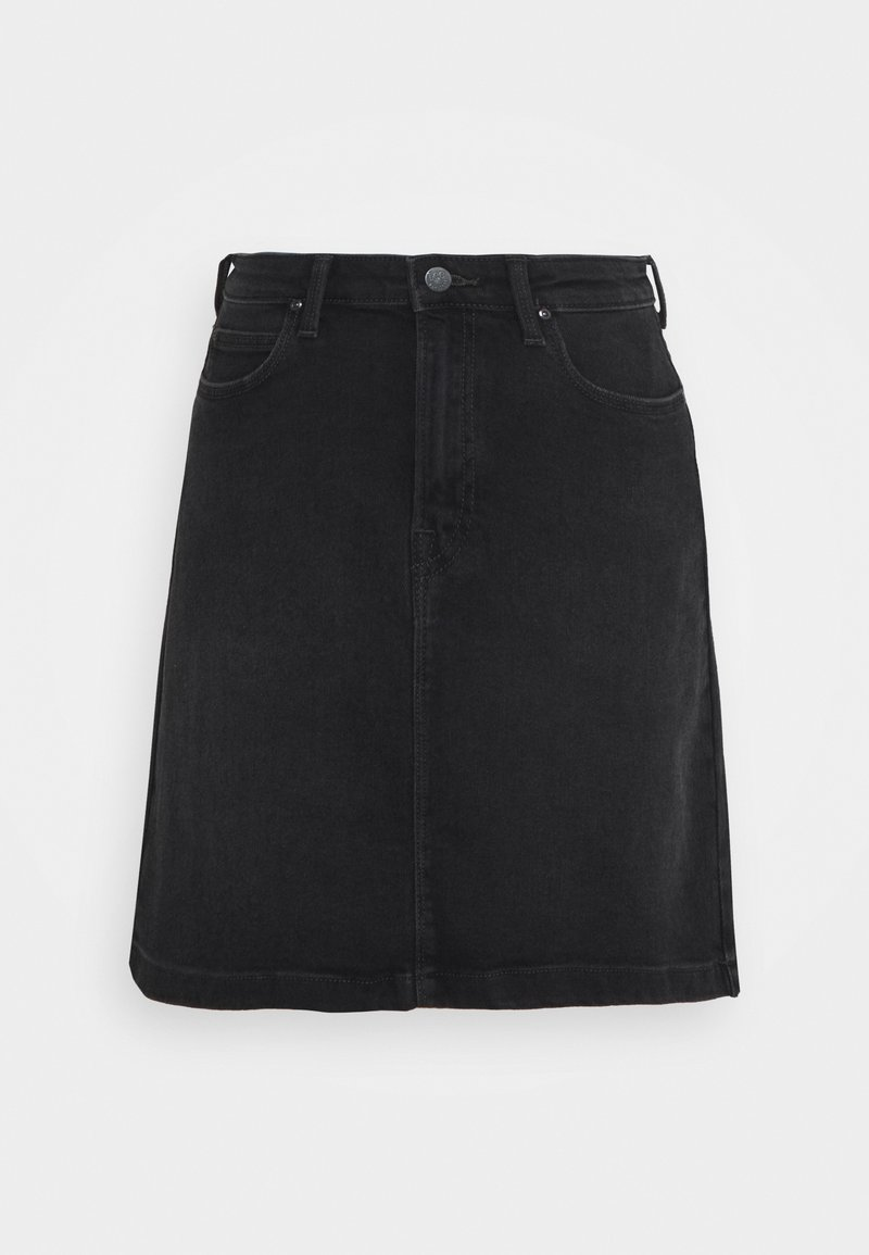 Lee - LINE ZIP SKIRT - A-line skirt - captain black
