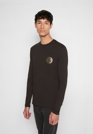 Long sleeved top - blacklogo gold